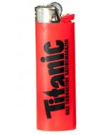 Feuerzeug rot (Höhe: 8cm)