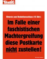 """Postkarte """"Faschistische Machtergreifung"""" Oktober 2018"""