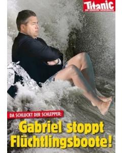 Da schluckt der Schlepper: Gabriel stoppt Flüchtlingsboote!