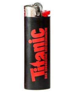 Feuerzeug schwarz (Höhe: 8cm)