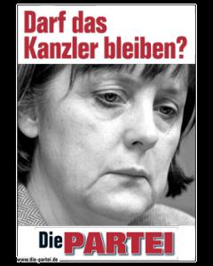 Das neue Merkel-Plakat (PARTEI-Edition)