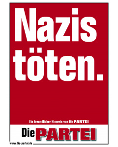 "Poster ""Nazis töten"". A2"