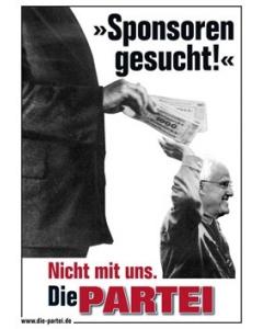 "Poster ""Sponsoren gesucht"""
