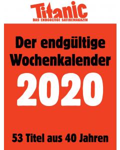 Der endgültige Wochenkalender 2020